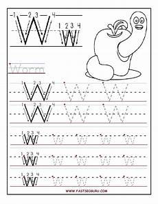 printable letter w tracing worksheets for preschool letter tracing worksheets tracing letters