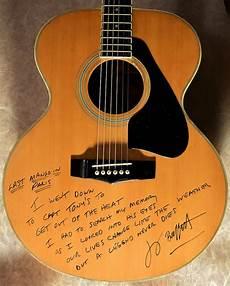jimmy signature guitar jimmy buffett yamaha acoustic guitar signed guitars rock galleryrock gallery