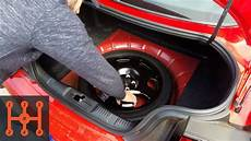 location ford mustang 2015 2019 ford mustang spare tire kit installation