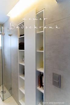 nische zum schrank umbauen einbauschrank f 252 r ein sehr kleines bad mit dusche