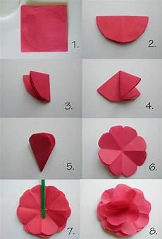Falten Einfach - papierblumen basteln mit kindern sch 246 ne ideen und