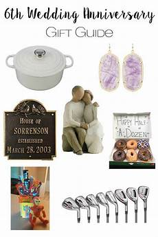 6th Wedding Anniversary Gifts For