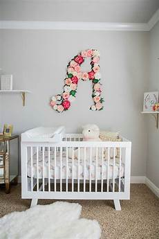 kinderzimmer wand ideen baby nursery with floral wall shop rent consign
