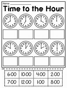 time worksheet kindergarten to the hour 3586 grade time worksheets hour half hour quarter hour distance learning with images