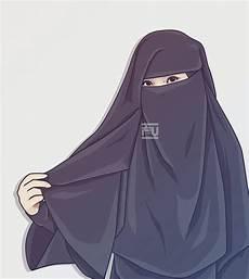 Menakjubkan 30 Gambar Kartun Muslimah Bercadar Berkacamata