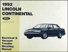 electric and cars manual 1994 lincoln continental on board diagnostic system 1992 lincoln continental electrical and vacuum troubleshooting manual