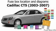 Fuse Box Location And Diagrams Cadillac Cts 2003 2007