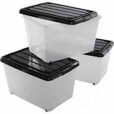 caisse plastique leroy merlin lot de 3 boites roller box plastique l 38 x p 55 x h 33