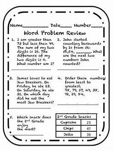 word problem review worksheets comparing numbers word problem review worksheet by life of a kindermom