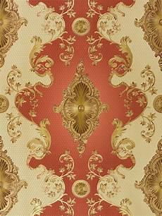 Tapete Satin Barock Klassisch Hermitage Rot Gold 6829 18