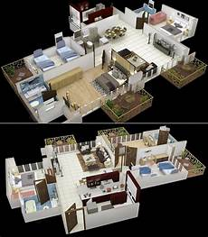 50 Three 3 Bedroom Apartment House Plans Simplicity