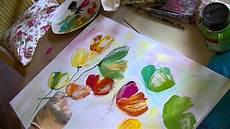 floral painting demo acrylbild tutorial quot blumen im