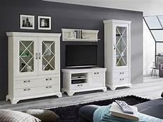 möbel wohnzimmer weiß kasha wohnwand pinie weiss