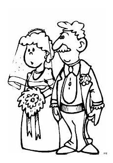 Malvorlagen Hochzeit Comic Ehepaar Bei Der Hochzeit Ausmalbild Malvorlage Comics