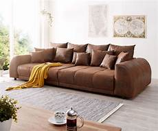big sofa braun big sofa violetta 310x135 cm braun antik optik mit kissen