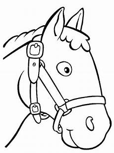 Einfache Malvorlage Pferd Pferde Malen Ausmalbilder Kostenlose Malvorlagen