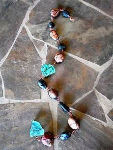items similar to wire wrapped rock n recycled glass