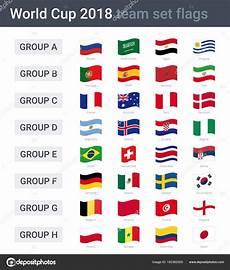 Flaggen Wm 2018 - 2018 team wehende fahnen gruppen der weltmeisterschaft