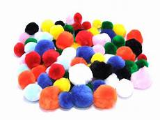 assorted craft pom poms craft factory made in the uk