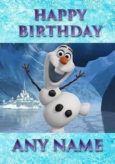 malvorlagen frozen happy birthday olaf 5th birthday card printable home gt personalised