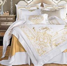 White And Gold Duvet Cover by Cotton White Gold Embroidered Duvet Cover Bedding