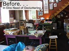 how to declutter a craft room shiny happy world