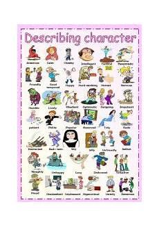 describing s personality worksheets 15903 describing character esl worksheet by vanda51