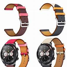 Bakeey Durable Replacement Band Huawei by Bakeey 22mm Dual Color Genuine Leather Replacement