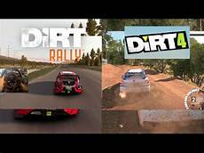 dirt 4 vs dirt rally dirt 4 gameplay side by side