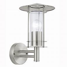 eglo 30184 lisio outdoor ip44 stainless steel wall light