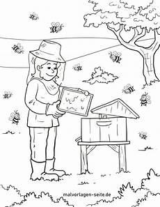 malvorlage imker mit bienen kostenlose ausmalbilder