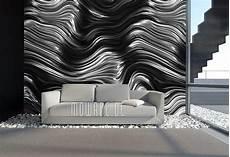 Tapete Schwarz Weiß Muster - tapeten schwarz design mowade 174