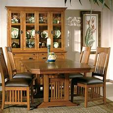 arts and crafts dining room furniture arts and crafts trestle dining room w chairs