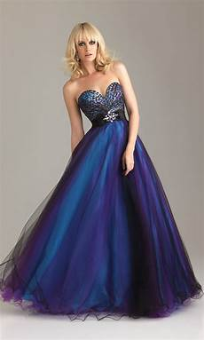 big blue wedding dresses design with ribbon and pearl