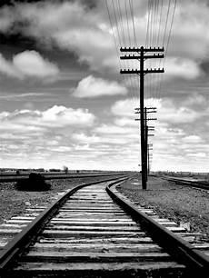 Gambar Horison Awan Hitam Dan Putih Langit Kereta