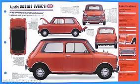 Austin Mini MK1 UK 1959 1967 Spec Sheet Brochure Poster