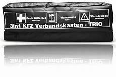 Erste Hilfe Kasten Auto - kfz trio verbandskasten kombitasche warnweste warndreieck