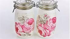 decorare vasi di vetro come decorare barattoli di vetro con la carta velina ecco