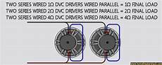 2 Ohm Dvc 12 Quot Subwoofer Wiring Diagram by Wiring Dual Drivers Home Theater Forum And Systems