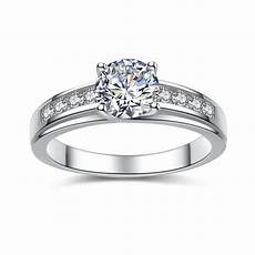 solid 925 sterling silver solitaire 1 50 ct cubic