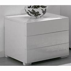 chevet design blanc commodes meubles et rangements chevet design high gloss