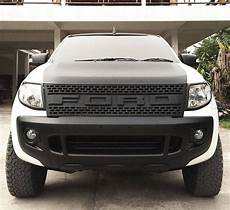 plastic matte black front grille grill rapter style new