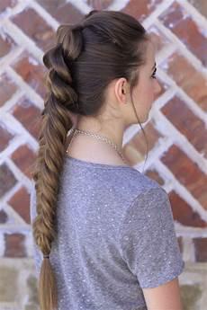 pull through fishtail braid combo cute hairstyles