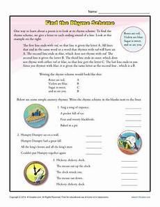 analyzing poetry worksheet 4th grade 25451 find the rhyme scheme rhyming worksheet poetry activities spelling worksheets
