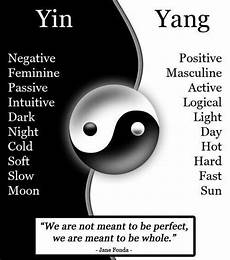 Yin Yang Bedeutung - changing yourself changing your environment words