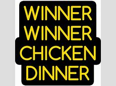 Winner Winner Chicken Dinner   PUBG Sticker   Just