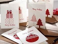 Weihnachtskarten Selbst Basteln - handgemachte weihnachtskarten selber basteln mit