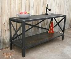 handmade scrap metal and industrial style table by jreal contemporary buffets and