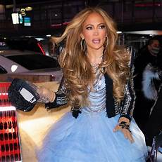 jennifer lopez on the set of dick clark s new year s