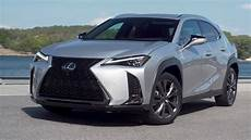 2019 lexus ux 200 f sport platinum silver exterior red interior us spec youtube